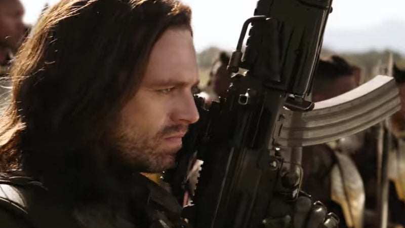 Avengers Infinity War Trailer Characters - The Winter Soldier