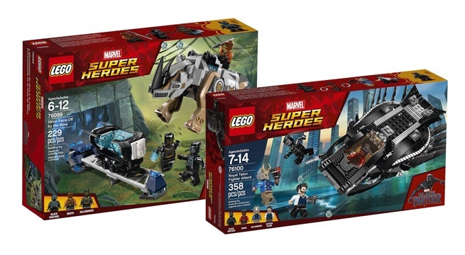 The First Two Black Panther Lego Sets Are Now Available