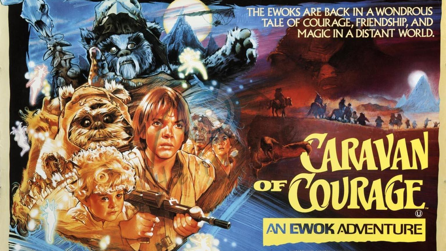 caravan of courage an ewok adventure poster