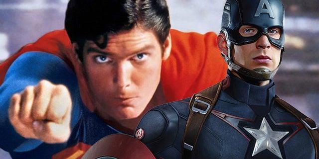 chris evans captain america superman christopher reeve