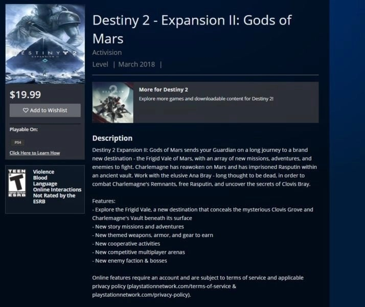 Destiny 2: Second Expansion Reportedly Leaks, Title and