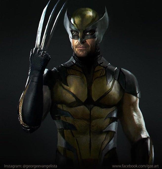 Artist Reimagines Hugh Jackmans Wolverine In Classic Costume