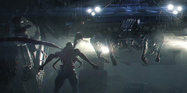 justice league concept art knightcrawler parademon