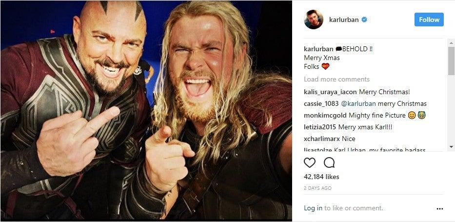 Karl Urban Thor Christmas