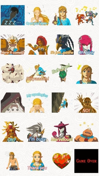 Animated stickers based on the legend of zelda breath of the wild have arrived this sticker set features the courageous hero link the wise princess