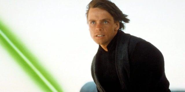 luke skywalker green lightsaber star wars