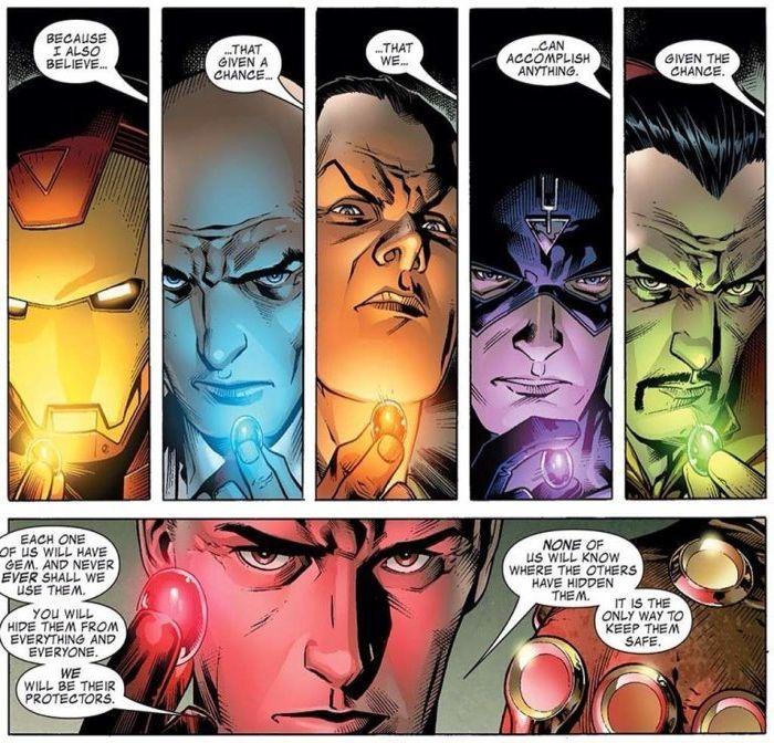 Marvel Illuminati infinity gems
