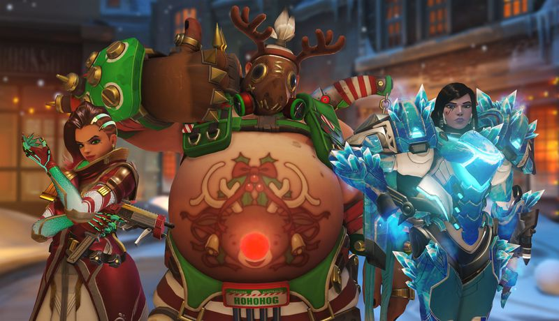 Overwatch Winter Wonderland Goes on a 5v1 Yeti Hunt