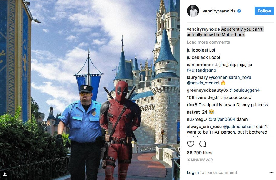 Ryan-Reynolds-Deadpool-Disney-World-Instagram
