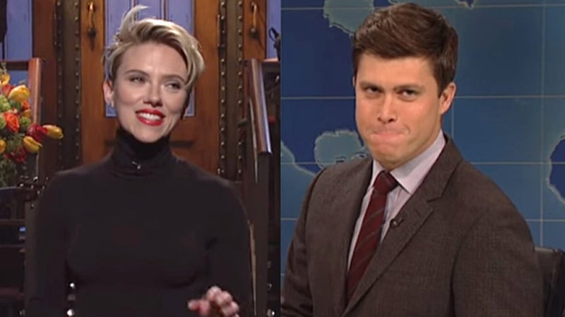 Scarlett Johansson, Colin Jost Pose Together at First Public Appearance
