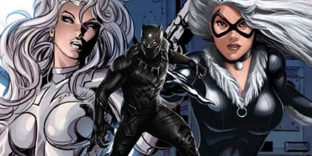 silver and black black panther
