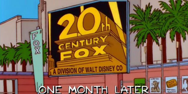 Simpsons Fox Disney Deal