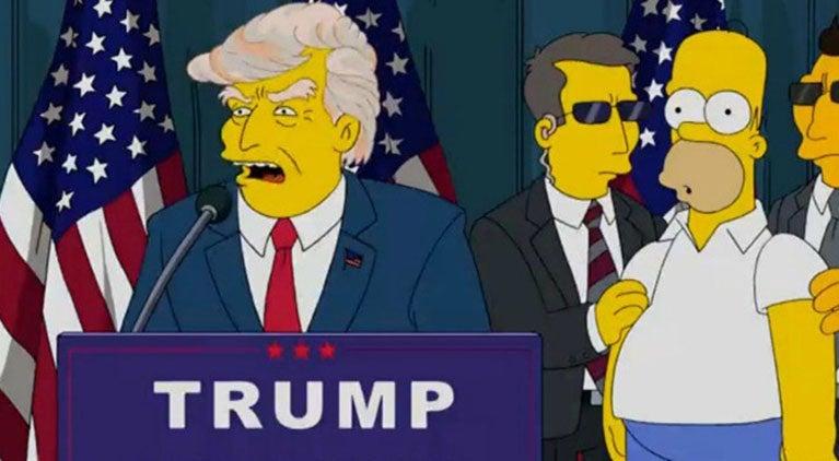 simpsons president trump