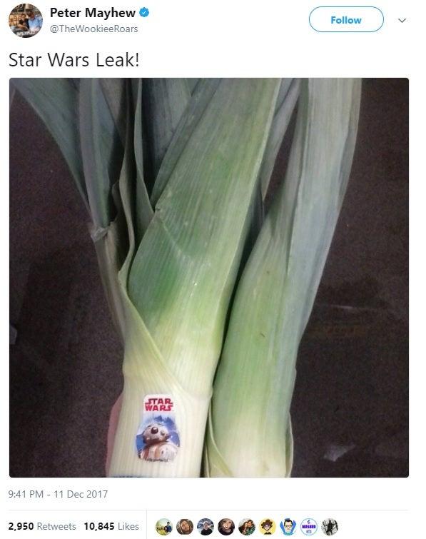 star wars leak peter mayhew