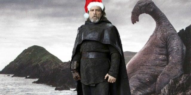 Star Wars The Last Jedi Luke christmas comicbookcom