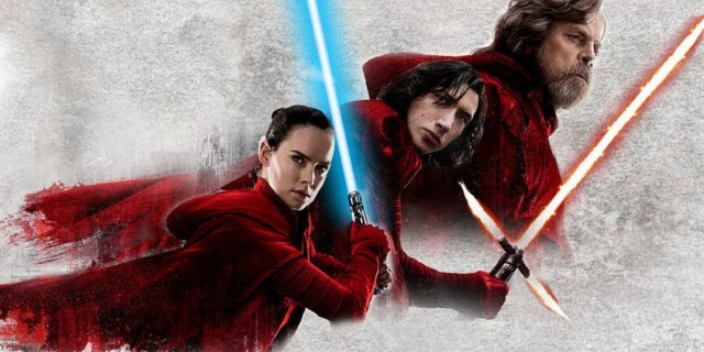 Star Wars The Last Jedi Rey Kylo Luke