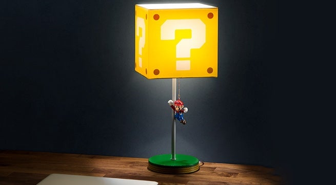 This Super Mario Question Block Lamp Defeats Darkness