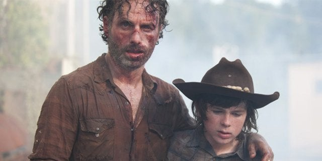 andrew lincoln chandler riggs walking dead rick carl