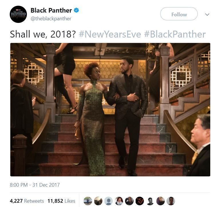black panther new years photo