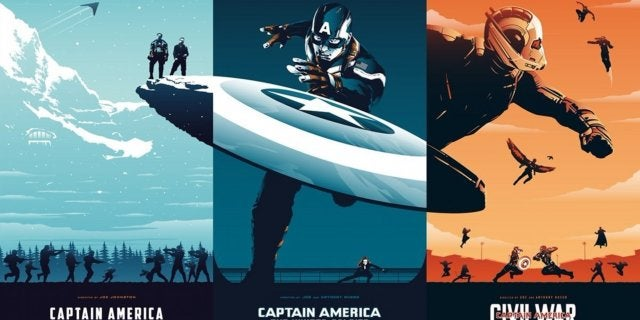 Captian America Movie Trilogy Fan Poster MCU by Rico Jr Crea