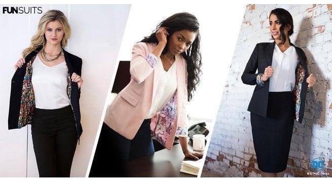 dc comics launches stylish superhero blazers for women