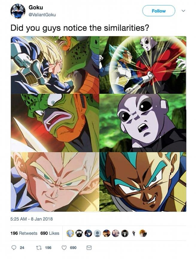 Dragon Ball Super Jiren Cell Comparison Images