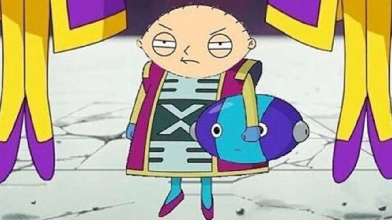 Family Guy Stewie Griffin as Dragon Ball Super Grand Zeno