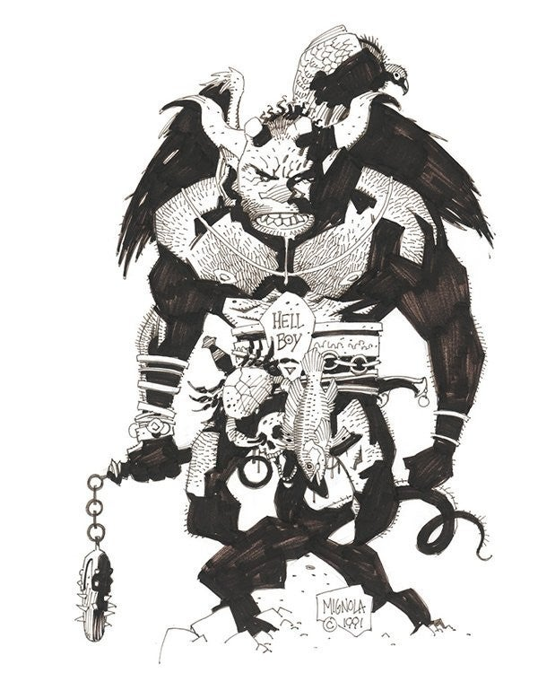hellboy first drawing