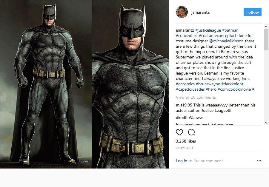 Justice League Batman Concept Art