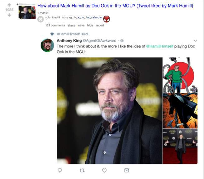 Mark Hamill Likes Idea of Playing Doctor Octopus