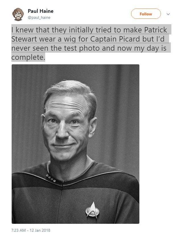 Patrick Stewart Hair Star Trekl