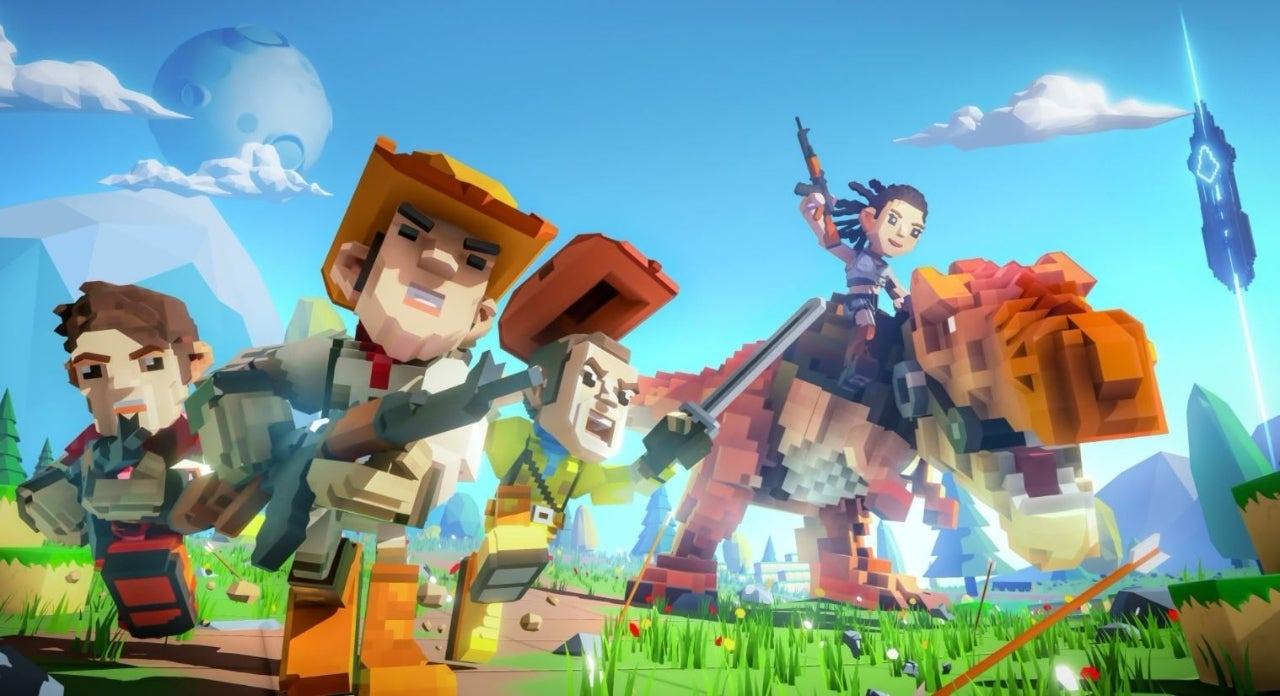 PixARK is ARK: Survival Evolved Stuck Through a Minecraft Blender