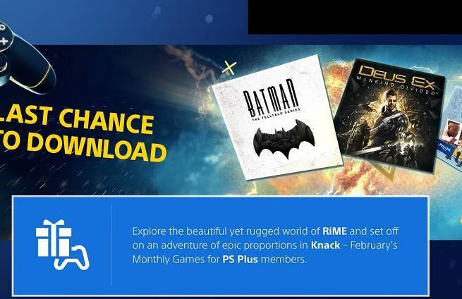 Free PS Plus Games for February 2018 Include Rime and Knack