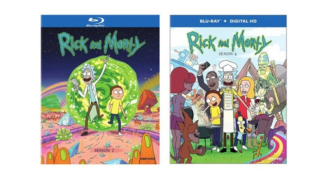 get rick and morty blu rays for 13 each