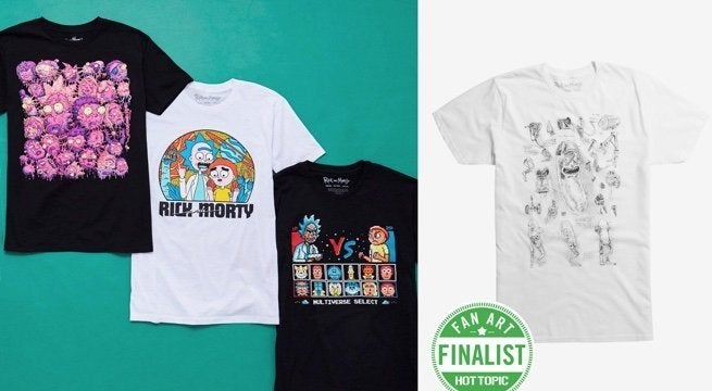 Rick and Morty Melted Reality Exclusive Black Mens T-Shirt
