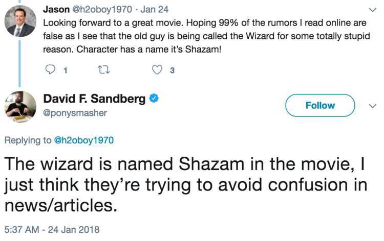 Shazam!' Director Clarifies the Name of the Wizard in the Film