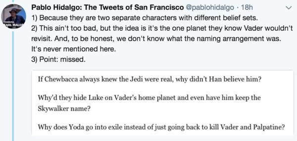 Lucasfilm Exec Eviscerates Article Trying to Point Out Star