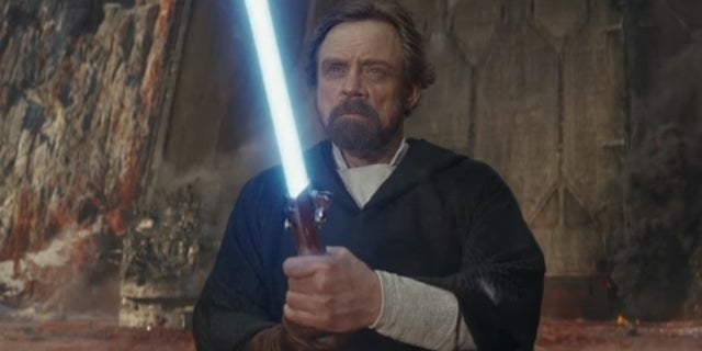 star wars the last jedi luke blue lightsaber