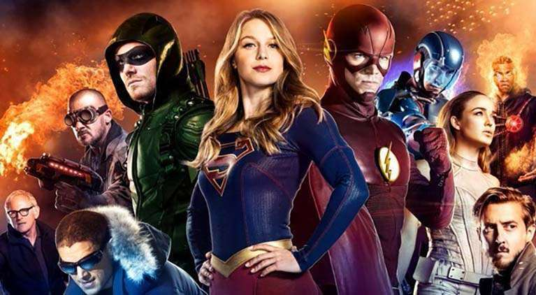 all the dc superheroes appearing on tv in 2018