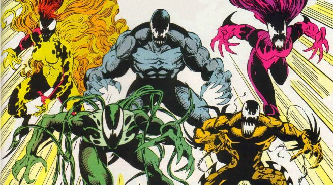 The Life Foundation's Five Symbiotes Hinted At Venom's First Look Photo