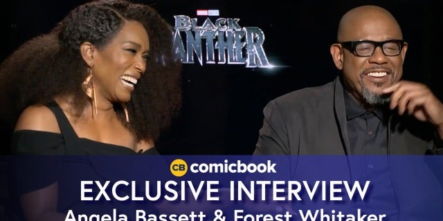 Angela Bassett and Forest Whitaker Talk Black Panther screen capture