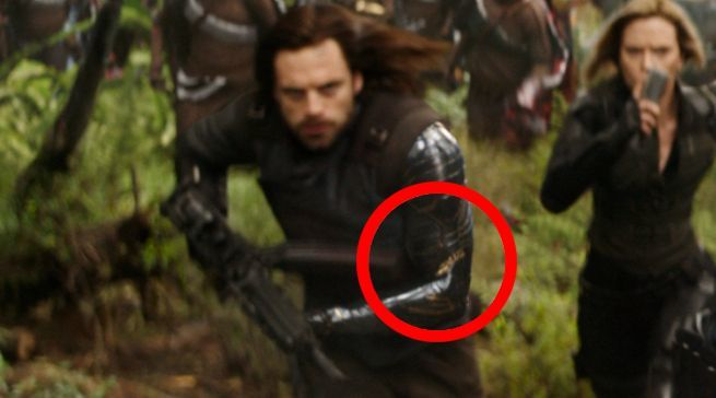 avengers infinity war winter soldier s arm gets a golden makeover comicbook com