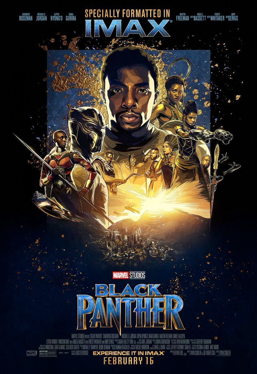 new black panther imax poster released