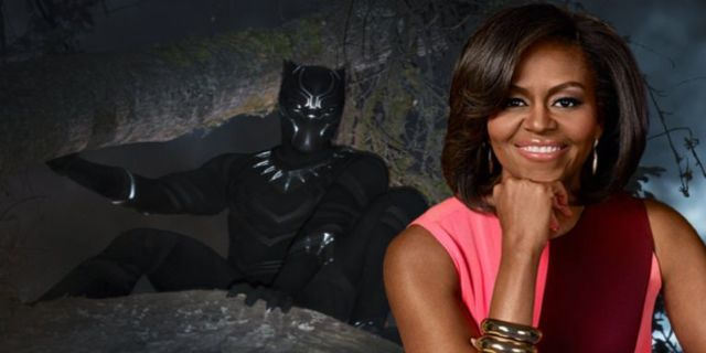 Black Panther Michelle Obama comicbookcom
