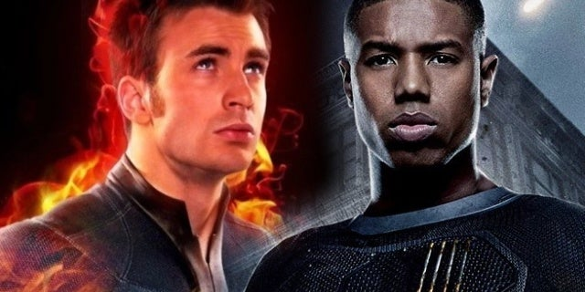 chris evans michael b jordan human torch