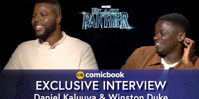 Daniel Kaluuya and Winston Duke Talk Black Panther screen capture