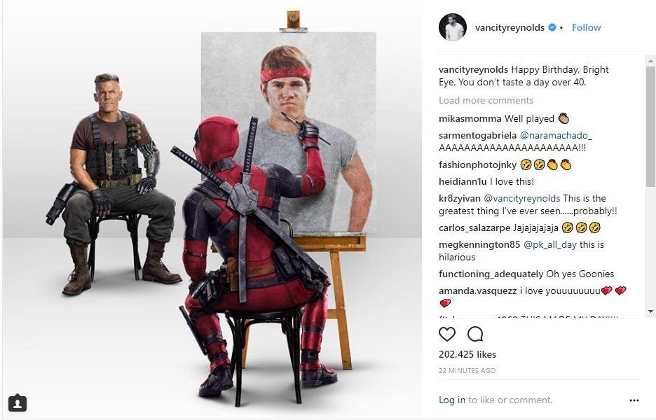 Deadpool Josh Brolin Happy Birthday