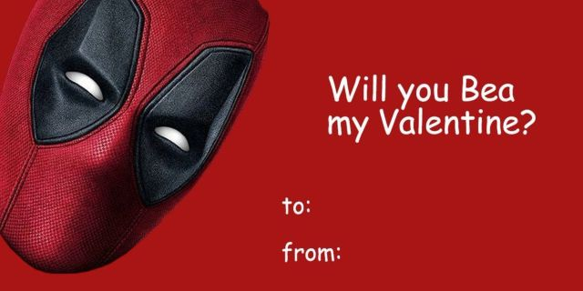 Deadpool Valentine's Day Cards - Deadpool