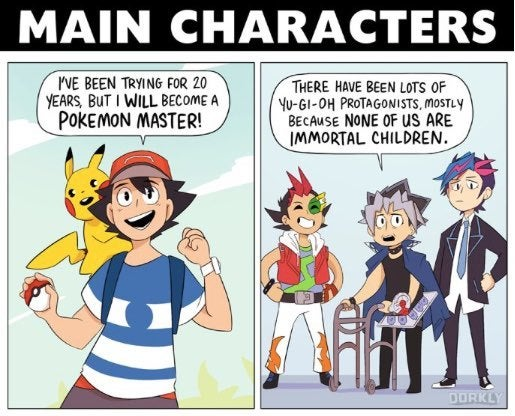 hilarious comic shows the real differences between pokemon and yu gi oh