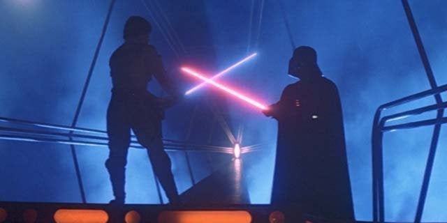 empire strikes back luke vader lightsaber duel
